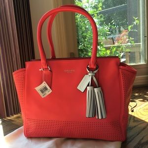 NWT Coach Perforated Leather Candace Tote 22390